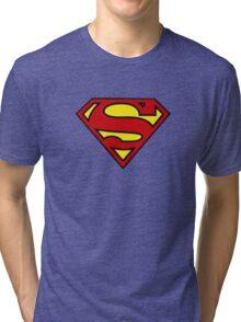 SuperMan Logo Alive! Tri-blend T-Shirt