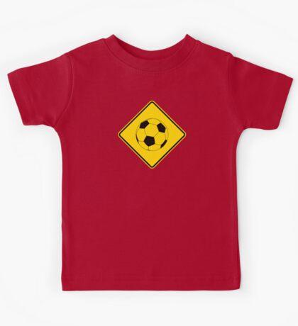 Soccer - Football - Footy - Traffic Sign - Diamond Kids Tee