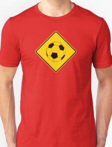Soccer - Football - Footy - Traffic Sign - Diamond T-Shirt