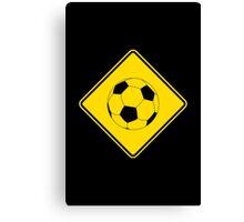 Soccer - Football - Footy - Traffic Sign - Diamond Canvas Print