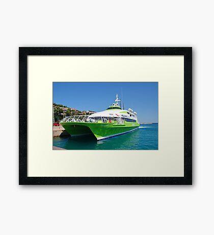 Patitiri ferry, Alonissos Framed Print