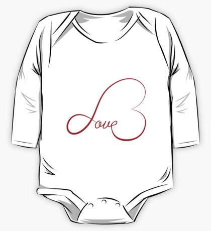 Love calligraphy heart One Piece - Long Sleeve