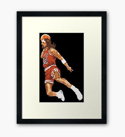 jesus dunk Framed Print