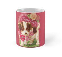 Valentine's Day , Puppy Love, Vintage Card Mug