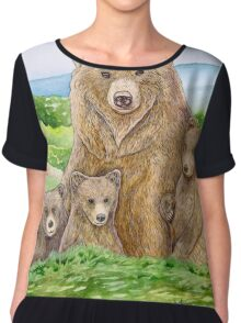 Mother Bear Chiffon Top
