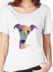 WHIPPET / GREYHOUND 'PANSY' By Shirley MacArthur Women's Relaxed Fit T-Shirt
