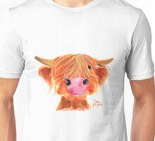 HIGHLAND COW ' ORANGE ' By Shirley MacArthur Unisex T-Shirt