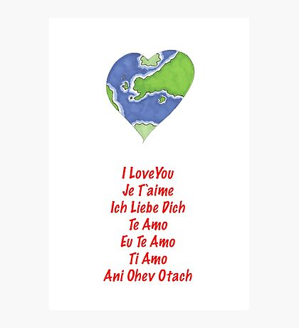 Valentine's Cards: Heart World Photographic Print