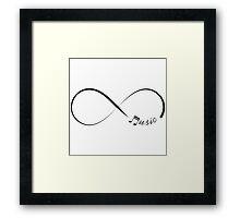 Forever music infinity symbol Framed Print