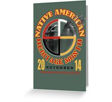 native american heritage month Greeting Card