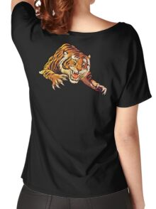 TIGER, Head, Attack, Pounce, Growl,  Women's Relaxed Fit T-Shirt
