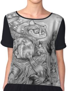 Alice and the Cheshire Cat Chiffon Top