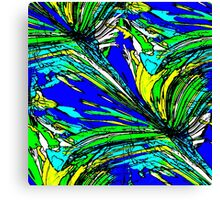 Abstract Palm Leaves Canvas Print
