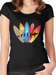 Surfer Evolution Women's Fitted Scoop T-Shirt