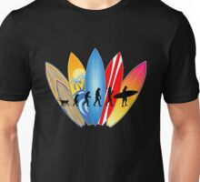 Surfer Evolution Unisex T-Shirt