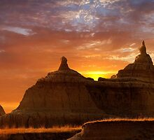 Sunrise over Badlands National Park .3 by Alex Preiss