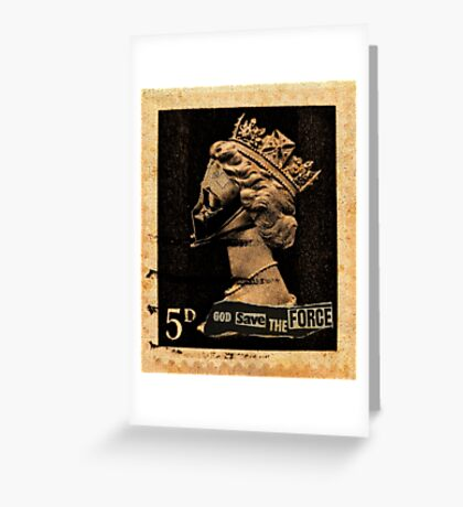 God Save The Force Greeting Card