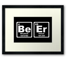 Beer - Periodic Table Framed Print