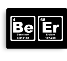 Beer - Periodic Table Canvas Print
