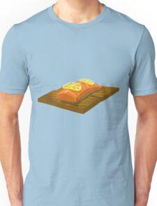 Glitch Food cedar plank salmon Unisex T-Shirt