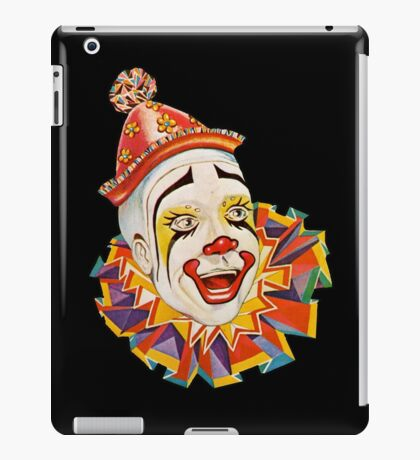 CLOWN, Clown Head, Circus, Vintage, Advertising, Poster, Scary iPad Case/Skin