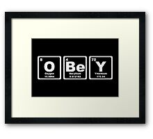 Obey - Periodic Table Framed Print
