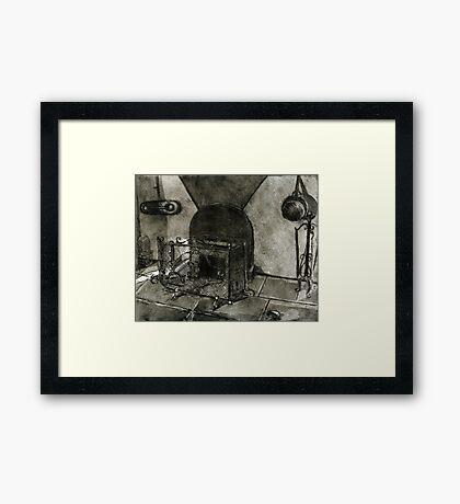 The Tuscan Hearth Framed Print