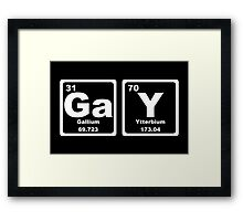 Gay - Periodic Table Framed Print