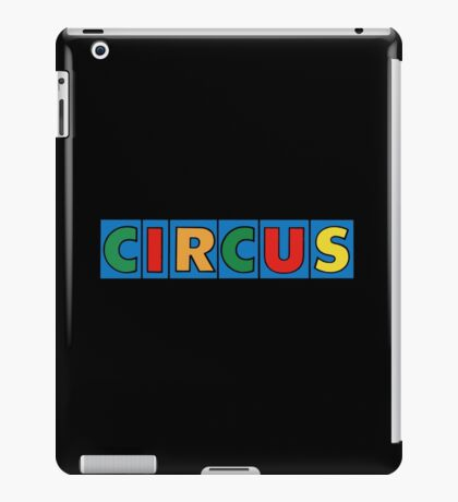 CIRCUS, Lettering, Vintage, Type,  iPad Case/Skin