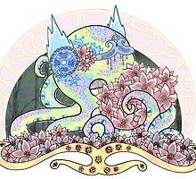 Poinsettia Octopus Art Nouveau  by taxdollars
