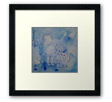Blue Hearts Held Framed Print