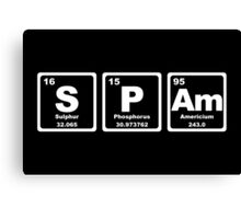 Spam - Periodic Table Canvas Print