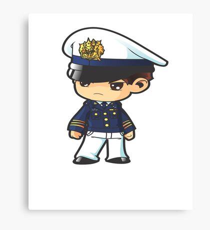 Cadet Police Anime Cartoon  Canvas Print