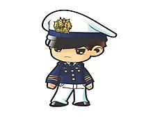 Cadet Police Anime Cartoon  Photographic Print