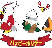 Happy Pokémon Holidays! by LowFatCheese