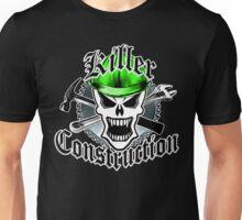 Construction Skull: Killer Construction Green 2.2 Unisex T-Shirt