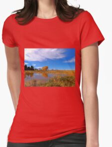 Forest Beach Migratory Preserve Pond Womens Fitted T-Shirt