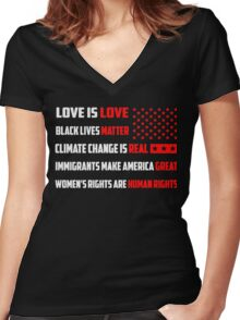 Love Is Love Trump - White Women's Fitted V-Neck T-Shirt