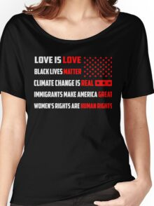 Love Is Love Trump - White Women's Relaxed Fit T-Shirt