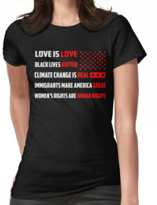 Love Is Love Trump - White Womens Fitted T-Shirt