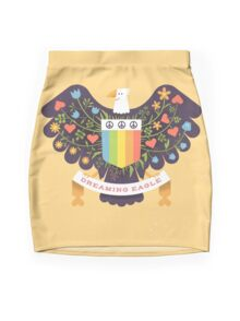 Dreaming (not Screaming) Eagle Mini Skirt