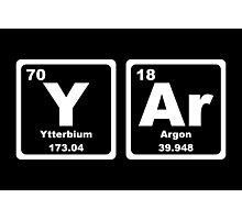 Yar - Periodic Table Photographic Print
