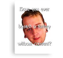 Basting a Turkey Canvas Print