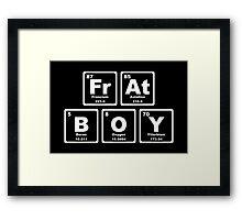 Frat Boy - Periodic Table Framed Print