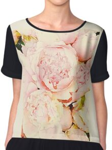 Ode to Peonies Chiffon Top