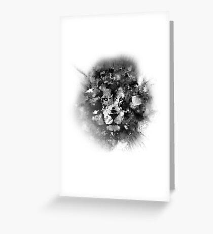 NIGHT LION V Greeting Card