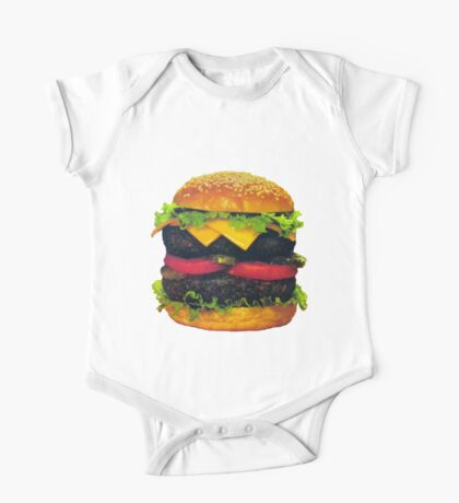 Double Deluxe Hamburger with Cheese One Piece - Short Sleeve