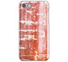 Red Rusty Train Texture iPhone Case/Skin