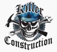 Construction Skull: Killer Construction Blue 4.1 Kids Clothes