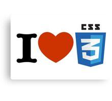 I love CSS3 Canvas Print